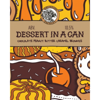 Dessert in a Can - Chocolate Peanut Butter Caramel Brownie