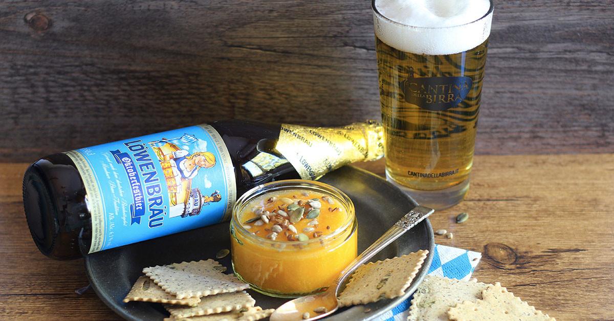 Vellutata alla zucca con birra Löwenbräu Oktoberfest