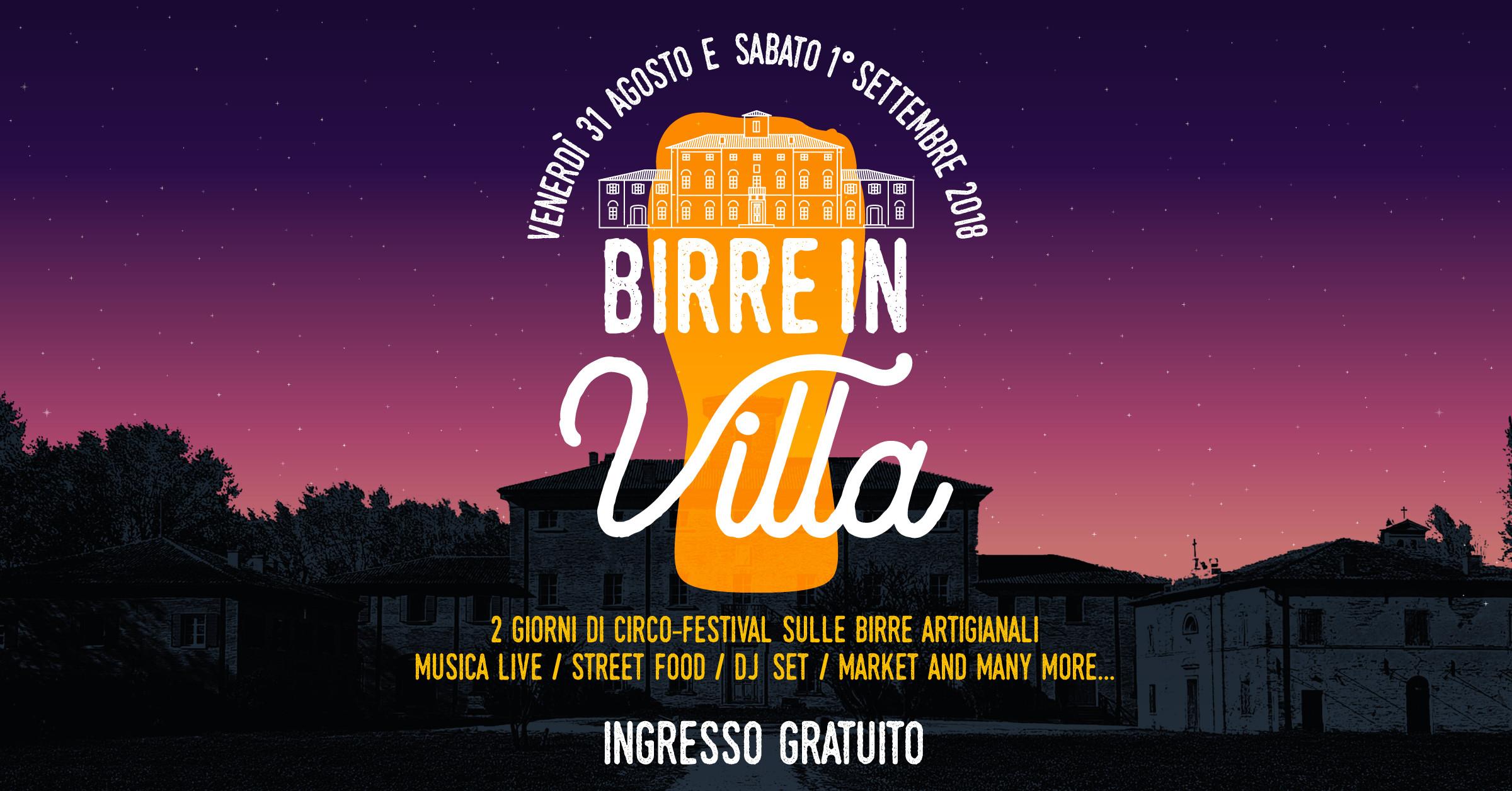 Birre in Villa e altri eventi di Settembre