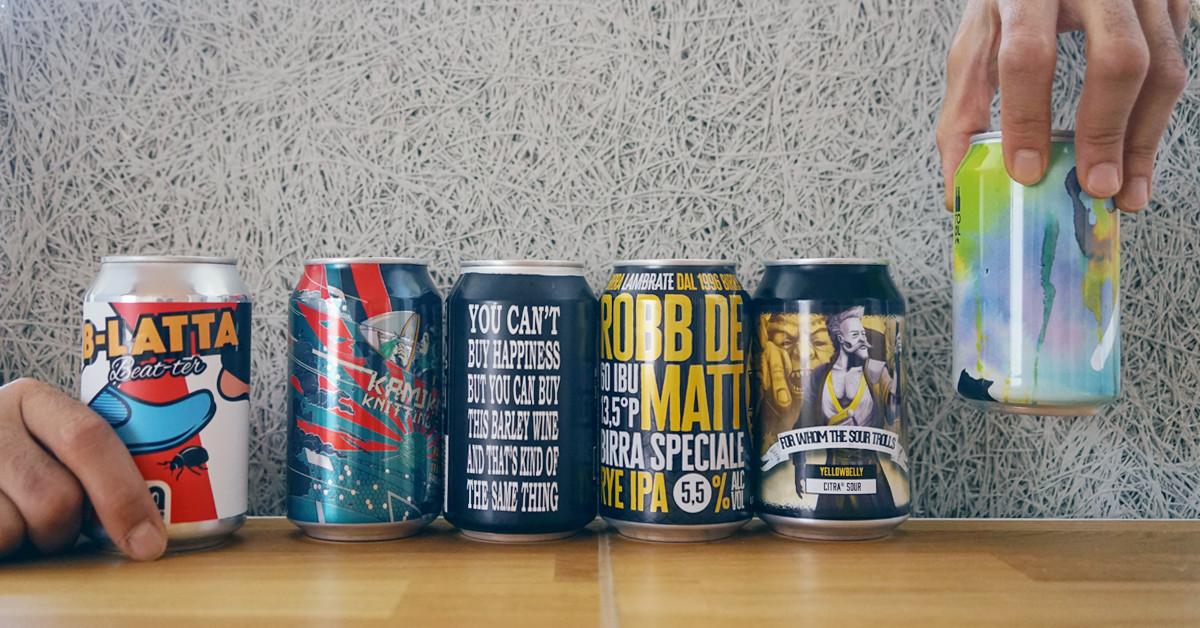 L'evoluzione della lattina di birra, dove grafica e design contano